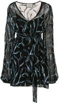 Alexis Lujana foliage embroidered dress