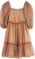Sea Teddie Midi Dress in Plaid