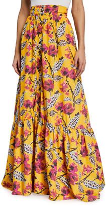 A.L.C. Lillie Floral Print Long Skirt