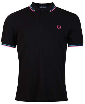 Fred Perry Authentics Regular Fit Twin Tipped Polo Colour: MAHOGANY, S