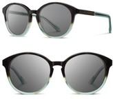Shwood Women's 'Bailey' 53Mm Round Sunglasses - Black/ Ebony/ Grey