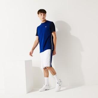 Lacoste Men's SPORT Colorblock Breathable Pique T-shirt