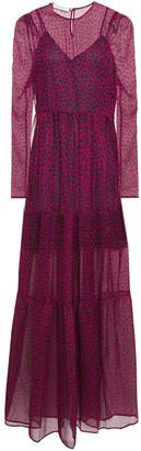 Philosophy di Lorenzo Serafini Tiered Leopard-print Voile Maxi Dress