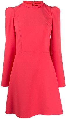 Elisabetta Franchi Puff Sleeve Mini Dress