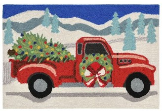 "The Holiday Aisleâ® Vancamp Joy Ride Hand-Tufted Gray Indoor/Outdoor Area Rug The Holiday AisleA Rug Size: Rectangle 2'6"" x 4'"
