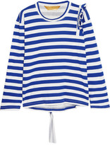 Golden Goose Deluxe Brand Tammy Jo Ruffled Striped Cotton-jersey Top - Blue