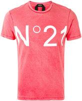 No.21 logo print T-shirt - men - Cotton - XL