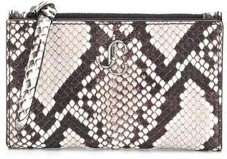 Jimmy Choo Litzy snakeskin wallet