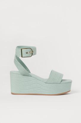 H&M Wedge-heel sandals