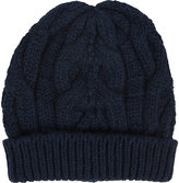 Barneys New York Women's Cable-Knit Beanie-NAVY