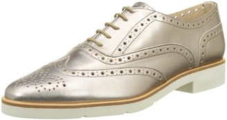 JB Martin Women Lace-Up Flats Gold Size: 39