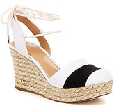 MICHAEL Michael Kors Ivy Ankle Tie Two-Toned Espadrille Wedge Sandals