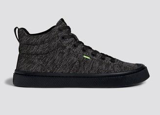 Cariuma IBI High Stone Black Knit Sneaker Women