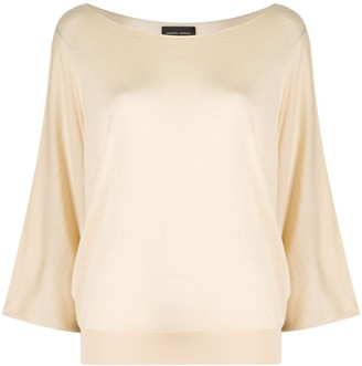 Roberto Collina draped fitted jumper