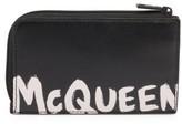 Alexander McQueen Zip Coin Leather Card Holder