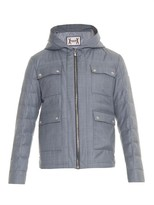 Moncler Gamme Bleu Quilted Wool Field Jacket