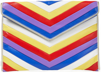 Rebecca Minkoff Leo Zip-embellished Quilted Leather Clutch