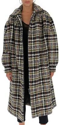 Miu Miu Oversize Belted Tweed Coat