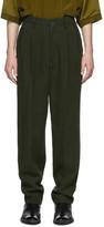 Haider Ackermann Green High-Waist Trousers