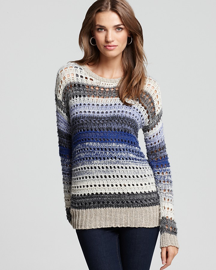 Joie Sweater - Avis All Over Stripe Crew Neck