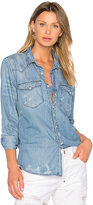 NSF Lesli Button Up in Blue