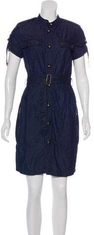 Lanvin x Acne Chambray Knee-Length Dress
