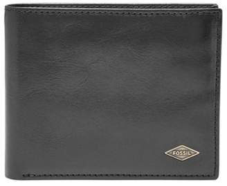 Fossil Ryan Rfid Flip Id Bifold Wallets Black