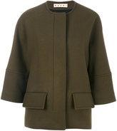 Marni cropped collarless jacket - women - Polyamide/Viscose/Virgin Wool - 42
