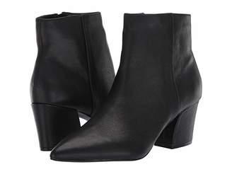 Steve Madden Missie Bootie (Black Leather) Women's Boots