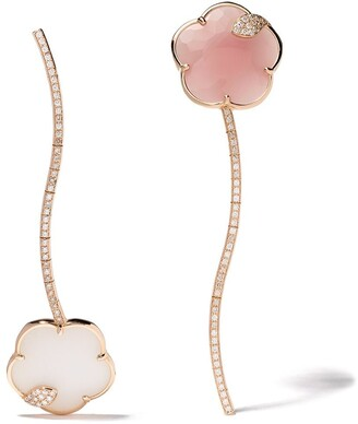 Pasquale Bruni 18kt rose gold Joli diamonds, chalcedony, agate and mother-of-pearl earrings