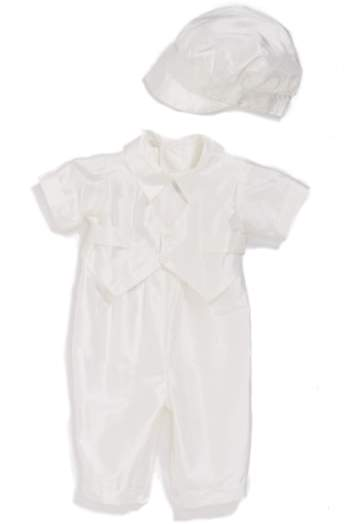 Little Things Mean a Lot Infant Girl's Silk Dupioni Romper And Hat Set
