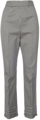 Miu Miu Plaid Flared Trousers