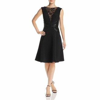 Tadashi Shoji Women's Sleevless Pintuck Dress w/Sequin