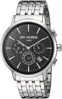 Ben Sherman Men's 'Portobello Professional' Quartz Stainless Steel Watch, Color:Silver-Toned (Model: WB028BMA)