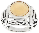 As Is Carolyn Pollack Sterling and Brass Cabochon Scroll Ring