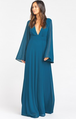Show Me Your Mumu Venus Long Sleeve Flare Dress