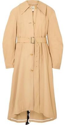 Awake Polka-dot Crepe-trimmed Cotton-blend Trench Coat
