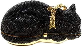 Judith Leiber Black Leather Clutch bags