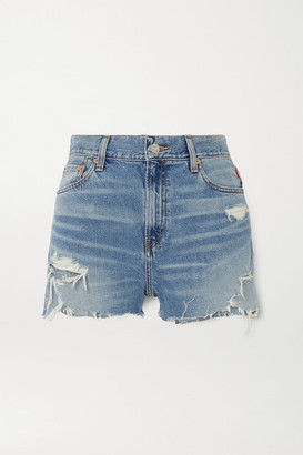 Denimist Karen Distressed Denim Shorts - Mid denim