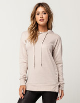 Full Tilt Side Lace Up Womens Hoodie