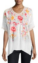 Johnny Was Rubi Embroidered Georgette Blouse, Plus Size