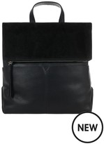 Accessorize Lydia Leather Backpack - Black