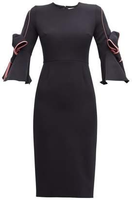 Roksanda Lavete Piped Crepe Dress - Womens - Navy