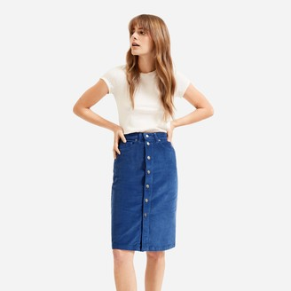 Everlane The Button-Front Corduroy Skirt