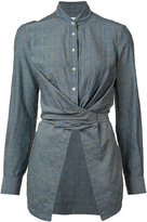 Yigal Azrouel bow tie wrap blouse - women - Cotton - 0