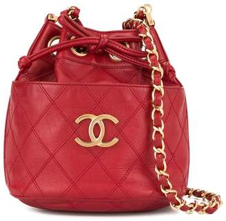 Chanel Pre-Owned 1986-1988 Cosmos quilted bucket bag