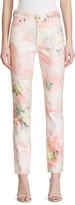 Ralph Lauren 861 Floral Denim High-Rise Slim Jeans