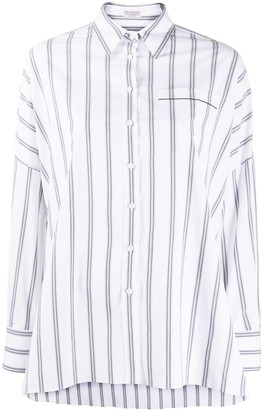 Brunello Cucinelli Oversized Striped Shirt