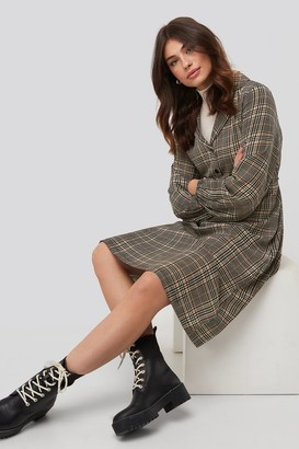NA-KD Checked Shirt Dress