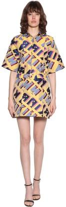 Kirin Typo Jacquard Mini Dress
